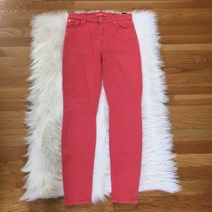 7 for all Mankind Coral Skinny Jeans